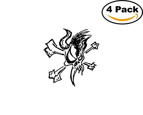 Scary Guy - metallica scary guy 4 Stickers 4x4 Inches Car Bumper Window Sticker Decal