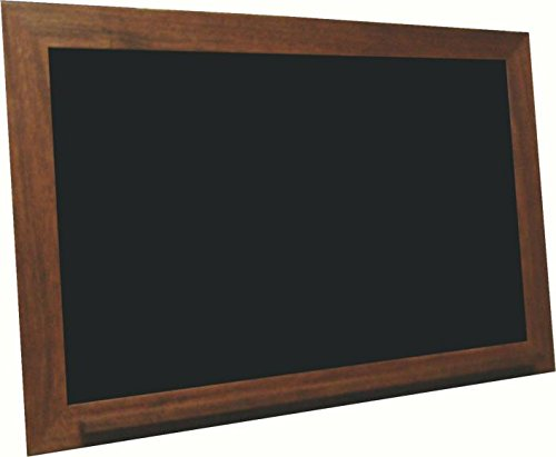 billyBoards 24x36 chalkboard. Vintage mahogany frame finish. School style. With chalk tray. Wood composite writing panel- black. 2.5'' wood frame. by billyBoards
