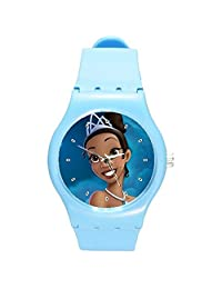 """Princess and the Frog """" Tiana"""" Girls Watch with Blue Plastic Watch Band"""