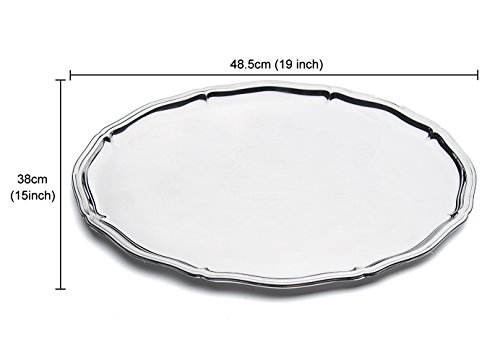 - OTW PAVILION Stainless Steel Serving Platters for Parties,Mirror Finish Oval Plates,Perfect for Party,Hotel,Wedding,Birthday,Outdoor Camping(19