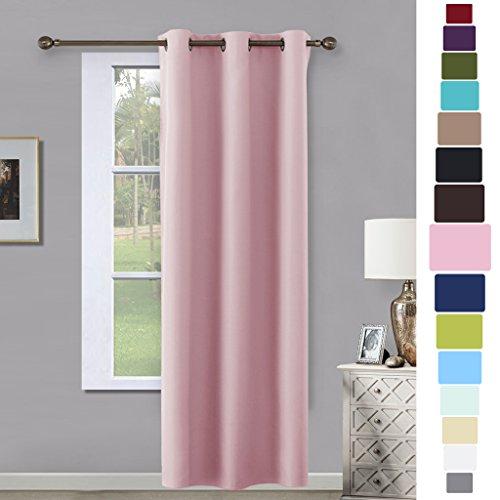 Room Darkening Curtain for Kids Bedroom - NICETOWN Nursery Essential Thermal Insulated Solid Grommet Top Drape Panel (1 Pack, 42 x 84 Inch in Lavendar Pink)