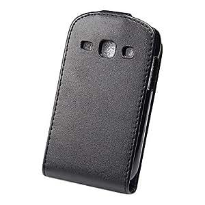 Elegant PU Leather Full Body Flip Case Cover for Samsung S6810 Fame-Black