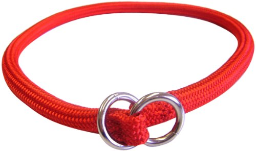 Hamilton 826 RD 5/16-Inch by 14-Inch Round Braided Choke Nylon Dog Collar, Red, My Pet Supplies
