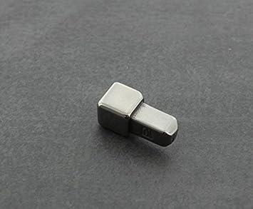 L/änge 2,50 m 11 mm H/öhe 1 St/ück geb/ürstet Edelstahl Fliesenschiene Fliesenprofil Winkelprofil V2A