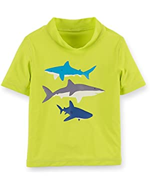 Carter's Baby Boys' Shark Rashguard - 12 Months