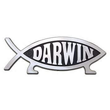 Darwin Fish Car Emblem Automotive