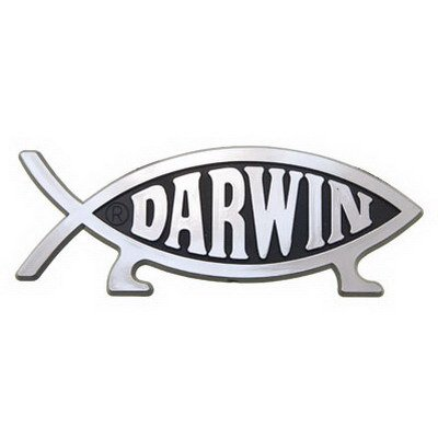 Darwin Sticker Bumper - Darwin Fish Car Emblem