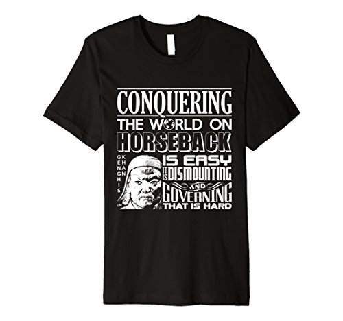 Men's Calvin Mira T Shirt xl Genghis Khan t shirt Conquering  Medium Black (Genghis Khan Costume)