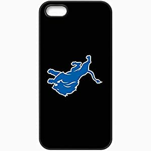 Personalized iPhone 5 5S Cell phone Case/Cover Skin Nfl Detroit Lions 4 Sport Black Kimberly Kurzendoerfer
