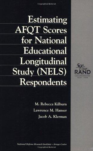 Estimating AFQT Scores for National Education Longitudinal Study (NELS) Respondents