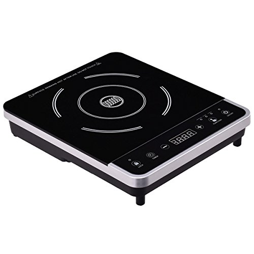 GHP 13.4''x11.2''x2.6'' Single Burner Electric Induction Cooker with Touchscreen Control by Globe House Products