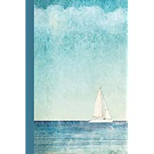 Journal: Boat on Blue Water 6x9 - DOT JOURNAL - Journal with dot grid paper - dotted pages with light grey dots