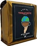 A cup of YIRGACHEFFE - Single Origin - 1LB YIRGACHEFFE (Ethiopia, Natural) - Light Medium Roast (Fruity Sweet)
