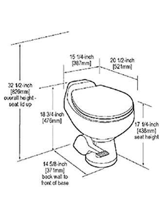 Amazon Com Sealand 500 Series Gravity Toilet Wmanual Flush
