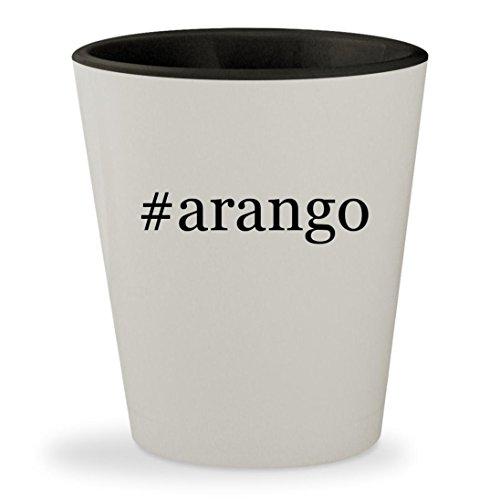 #arango - Hashtag White Outer & Black Inner Ceramic 1.5oz Shot Glass - Los Arango Tequila