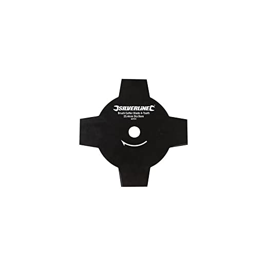 Silverline Disco para desbrozadora de 4 dientes Agujero Ø25,4 mm ...