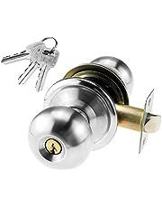 Slaapkamer deurslot ronde deurknop vergrendeling handvat ingang slot met sleutels en fittingen 60mm Latch