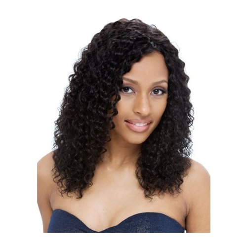 Janet Collection 100% Indian Pure Remy Human Hair Full Lace Wig - IMPERIAL (Wet & Wavy) - 1 JET BLACK