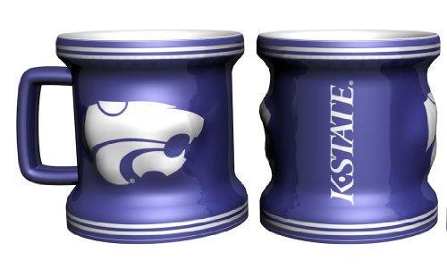 Kansas State Wildcats Sculpted Mini Mug Shot Glass---(Package of 2) ()