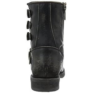 FRYE Women's Veronica Belted Short-Sto Engineer Boot, Black, 7 M US