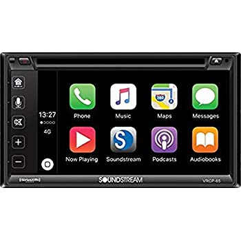 Soundstream VRCP-65 6 2'' CD DVD Bluetooth iPhone Apple Car Play Sirius XM  Stereo