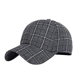 Baseball Cap Check Dad Hat Adjustable Cotton Sun Hats Caps for Women Men
