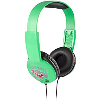 Teenage Mutant Ninja TurtleKid Safe Headphones HP2-03065 by Nickelodeon, Kid Safe Technology With Volume Control, Built In Volume Limiter, Cushioned Ear Pieces, Green/ Black