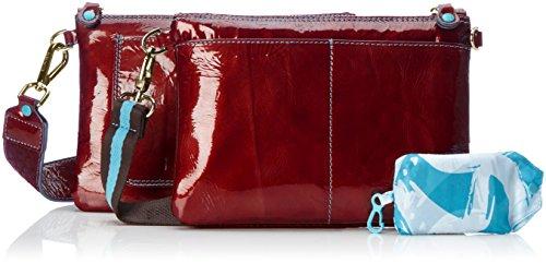 GABS NALA S NKNK, Bandolera Mujer, 3x16x23 cm Rojo (Red Wine)