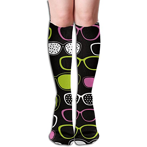 ZQWSock Womens Eyeglasses Pop Art Below Knee Socks Soft Boot Socks Tube Stockings One - Designer Online Canada Eyeglasses
