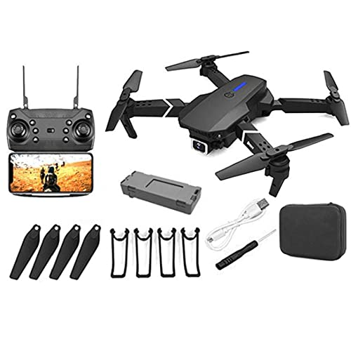 LWWL-Tools GPS Drone E88 Pro for Adults 4K Camera Foldable Live Video Drone RC Quadcopter Aircrafts with 1Battery