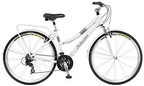 Schwinn Discover Women's Hybrid Bike (700C Wheels),White,28