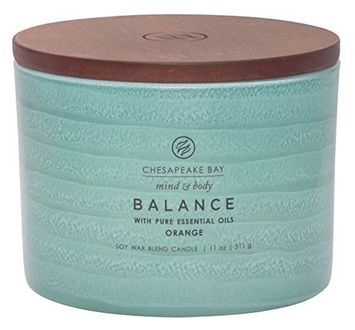 (Chesapeake Bay Candle Mind & Body Serenity Scented Candle, Balance with Pure Essential Oils (Orange), Coffee Table)
