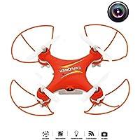SYSAMA GW009C 4CH Drone With Camera Quadcopter Dron RC Helicopter Drones With Camera HD Quadrocopter Mini Drone VS CX-10 (Red)