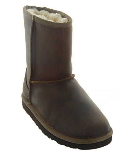 UGG Australia Girls Classic Short Leather Boot Chestnut Size 2 - Ugg Australia Classic Short Boot