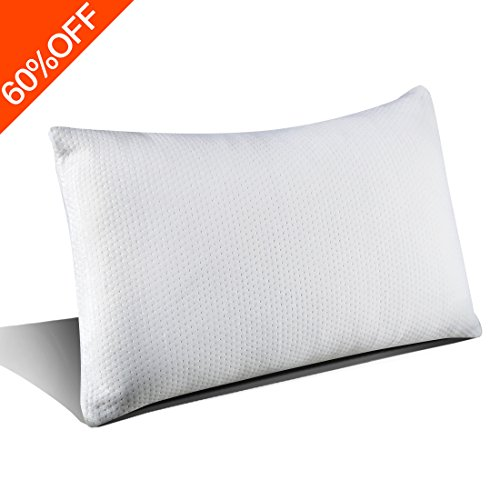 Price comparison product image Hypoallergenic Shredded Memory Foam Pillow -Premium Adjustable Loft with Washable pillows Cover