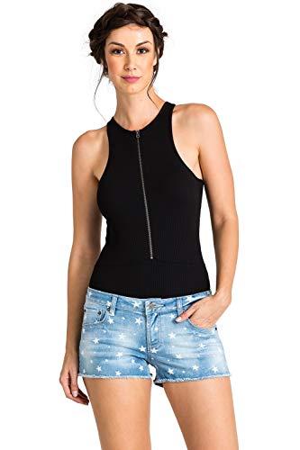 (Standards & Practices Modern Women's Star Print Light Wash Raw Edge Jean Shorts Size 27 x 2.5Length)