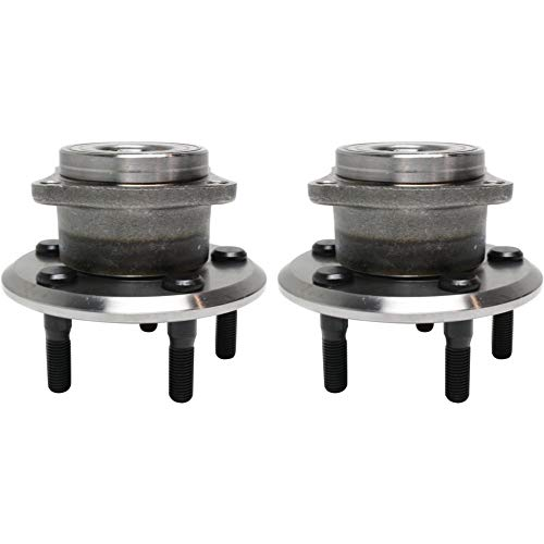 Wheel Hub and Bearing Compatible with 2003-06 Toyota Matrix Pontiac Vibe Rear AWD 4-Wheel ABS With Lug Bolts 2Pc ()