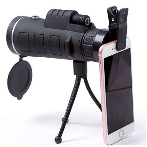 Price comparison product image GBSELL 40x60 Outdoor Single Mini HD Monocular Cell Phone Camera Lens Telescope