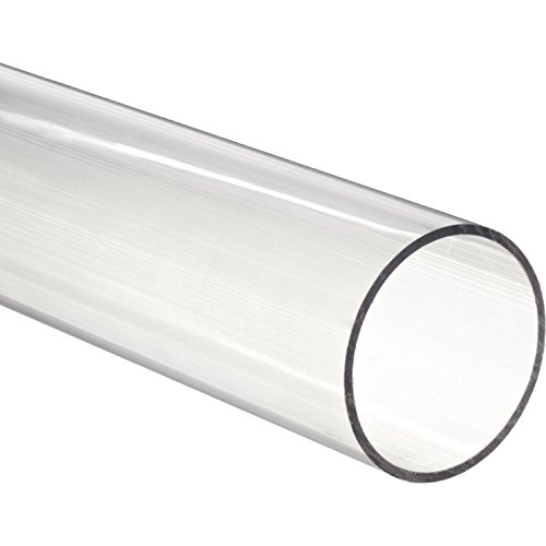 Acrylic Round Tube, Clear, 11-3/4'' ID 12'' OD x 36 Length by Plastic-Craft Products