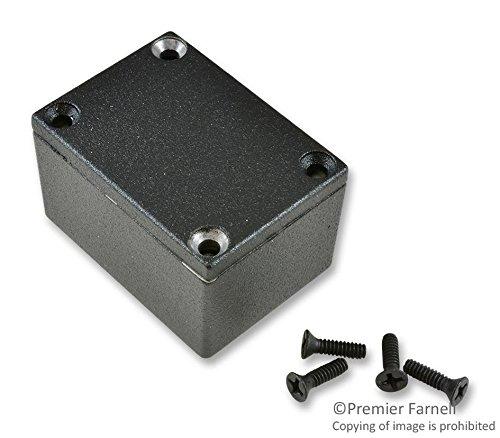 Hammond 1590HBK Black Diecast Aluminum Enclosure -- Inches (2.0'' x 1.5'' x 1.2'') mm (52.0mm x 38.0mm x 31.0mm)