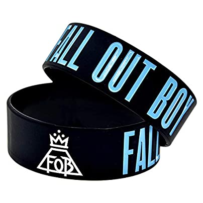 Sxuefang Silicone Bracelets With Sayings Fall Out Boy Pretty Rubber Wristbands For Adults And Kids Who Love Rock Band Set Pieces Estimated Price £29.99 -