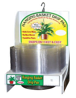 (CWP HB-1150 Hanging Basket Drip Pan, 10-Inch, Clear (50 Pack))