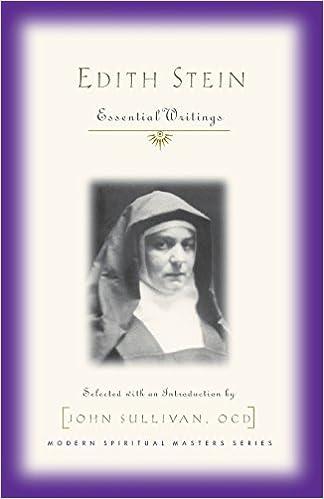 Edith Stein: Essential Writings (Modern Spiritual Masters Series) by Edith Stein (2002-03-01)