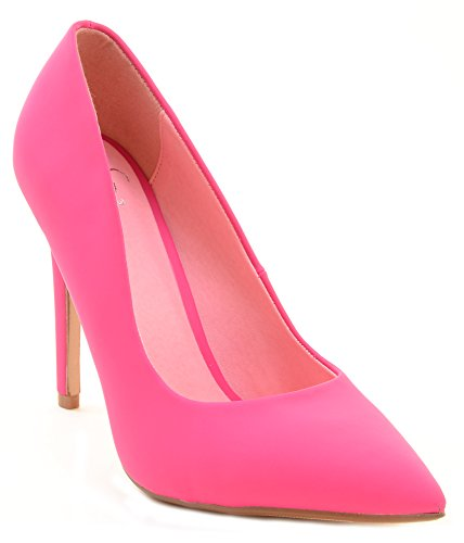 Pink Cindy by Not Just A Pump Classic Pointy Toe Heels Women's Shoes 8