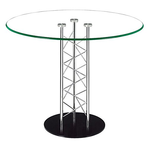 Zuo Chardonnay Dining Table, Chrome