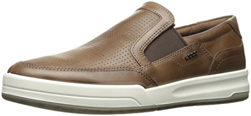 ECCO Men's Jack Perforated Slip On Fashion Sneaker,Cocoa Brown,39 EU/5-5.5 M US