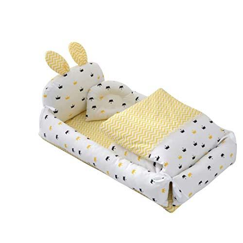 유아용 침대 공동 베드 귀여운 토 귀 베개 달린 씻을 수 있습니다 아기 침대 빵 파 / Crib Bed Bed Cute Rabbit Ears With Pillow Washable Baby Bed Pamper