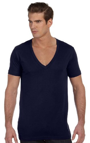 (Canvas Unisex stylish Deep V-Neck jersey - MIDNIGHT - XX-Large)
