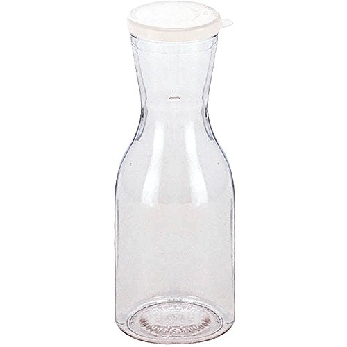 Cambro 1/4L Beverage Decanters with Lids, 12PK Clear WW250-135