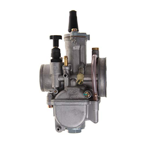 Flosky Universal Motorcycle 28mm Carburetor for Keihin Carb PWK Mikuni with Power Jet